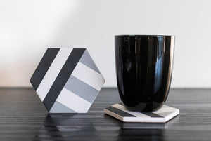 Monochrome Diatomite Coasters - Set of 4 - the-little-details-home-accents