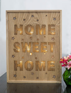 Home Sweet Home Light Up Wall Art - the-little-details-home-accents
