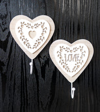 Load image into Gallery viewer, Vintage Lace Heart Wall Hooks - the-little-details-home-accents
