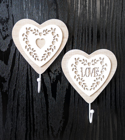 Vintage Lace Heart Wall Hooks - the-little-details-home-accents