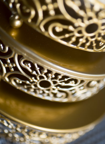 Vintage Gold Cake Stand - the-little-details-home-accents