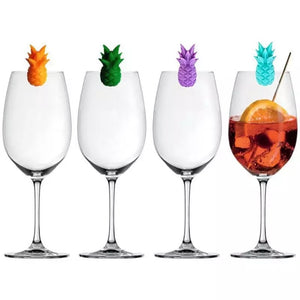 Wine Glass Markers - Pineapple