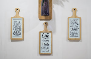 Wood & Glass Wall Hanging - the-little-details-home-accents