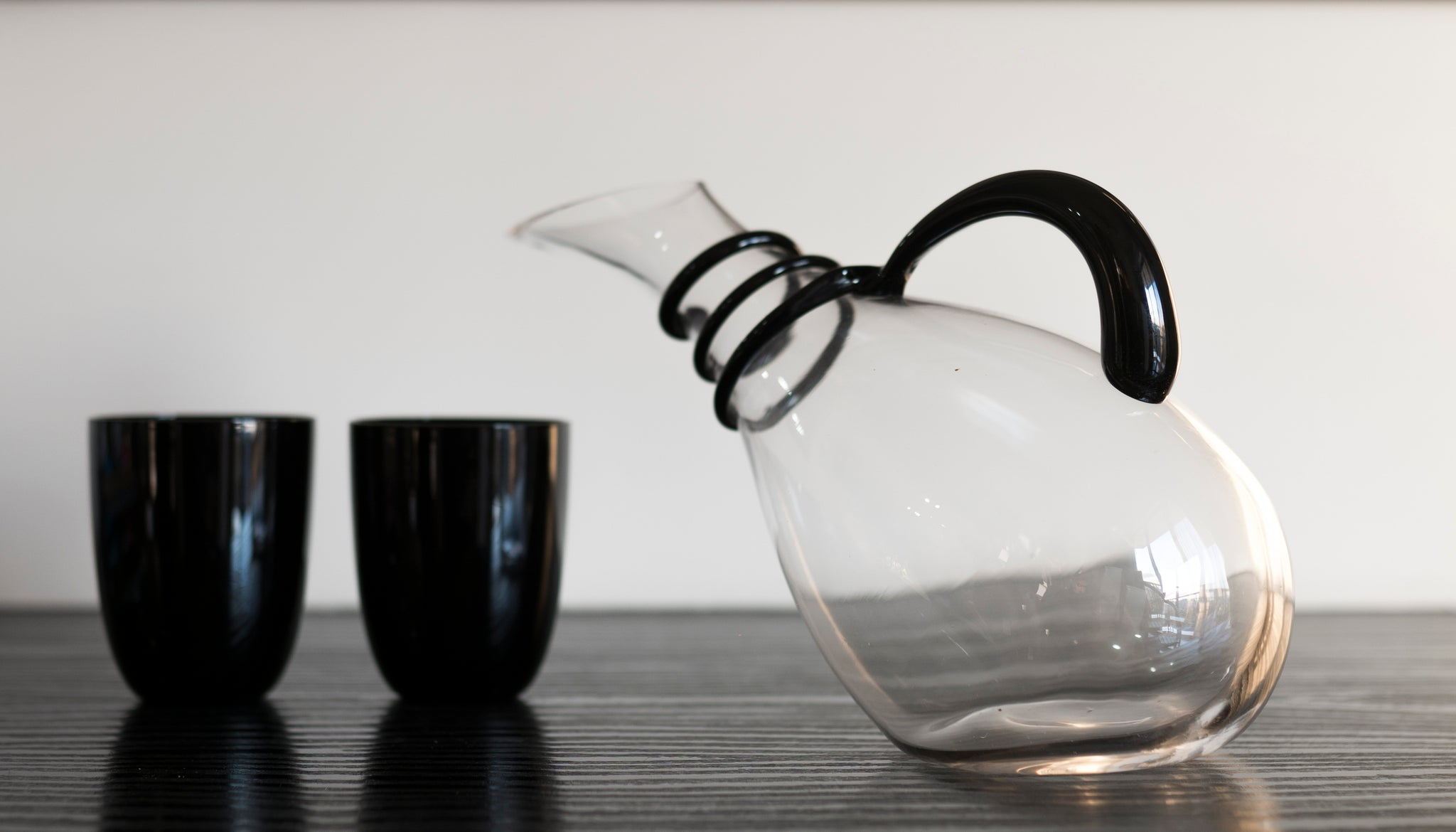 Slanted Glass Decanter - the-little-details-home-accents