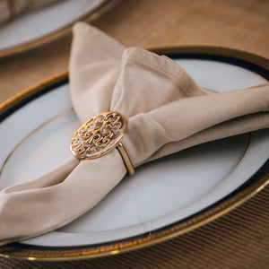 Gold Filigree Napkin Rings - Set of 6 - the-little-details-home-accents