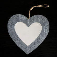 Load image into Gallery viewer, Wooden Heart Mirror - the-little-details-home-accents