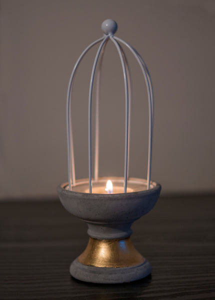 Concrete Cage Candle Holder - the-little-details-home-accents
