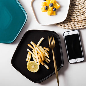 Black Pentagon Platter - the-little-details-home-accents