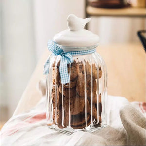 White Bird Jar - the-little-details-home-accents