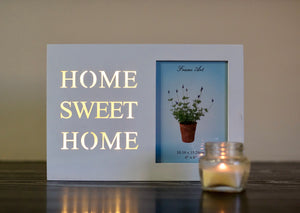 Home Sweet Home Light Up Frame - the-little-details-home-accents