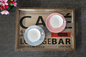 Printed Wooden Tray - Set of 2 - the-little-details-home-accents