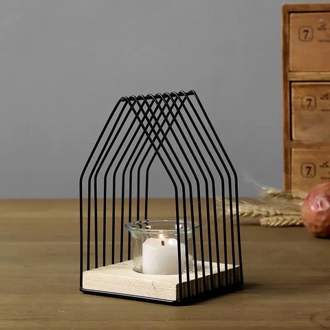 Metal House Candle Votive - the-little-details-home-accents