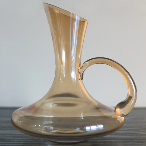 Yellow Glass Decanter - the-little-details-home-accents