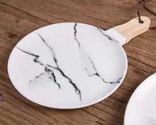 Load image into Gallery viewer, Marble Look Platter - the-little-details-home-accents