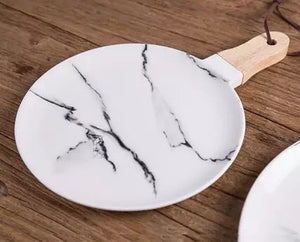 Marble Look Platter - the-little-details-home-accents