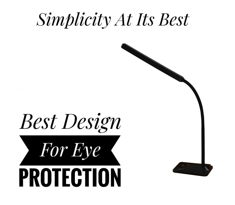 Eye Protection LED Desk Lamp With 5 Level Dimmer and Color Touch Control