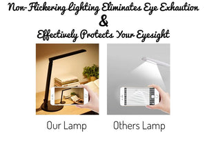 Eye Caring Adjustable LED Desk Lamp With Multilevel Touch Panel
