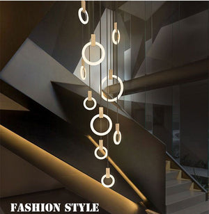 Modern LED Chandelier Light Emitting Rings
