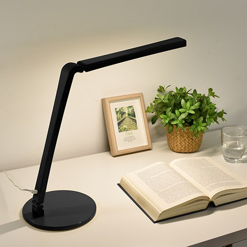 Eye Caring Fashionable Folding LED Desk Lamp With 3-Level Touch Dimmer Control