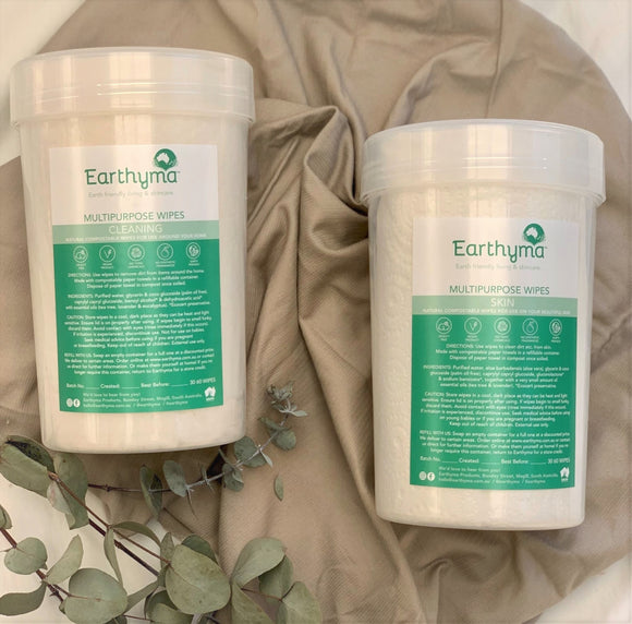 NEW Round/Circle Multi Purpose Natural Wipes