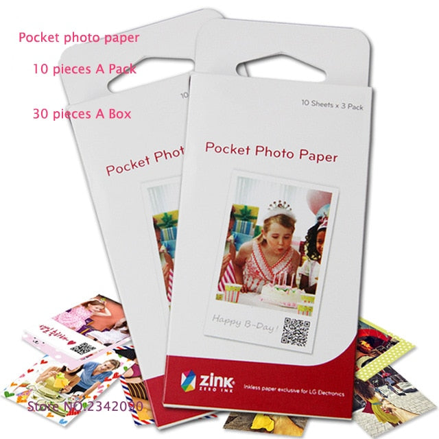 Pocket Color Photo Printer Paper for PD251 PD261 PD239 Mini Portable Bluetooth Android IOS Mobile Phone Photo Printers