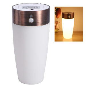 Vintage LED Night Light Battery Operated Wireless Motion Sensor Lamp for Home Kids Room Hallway
