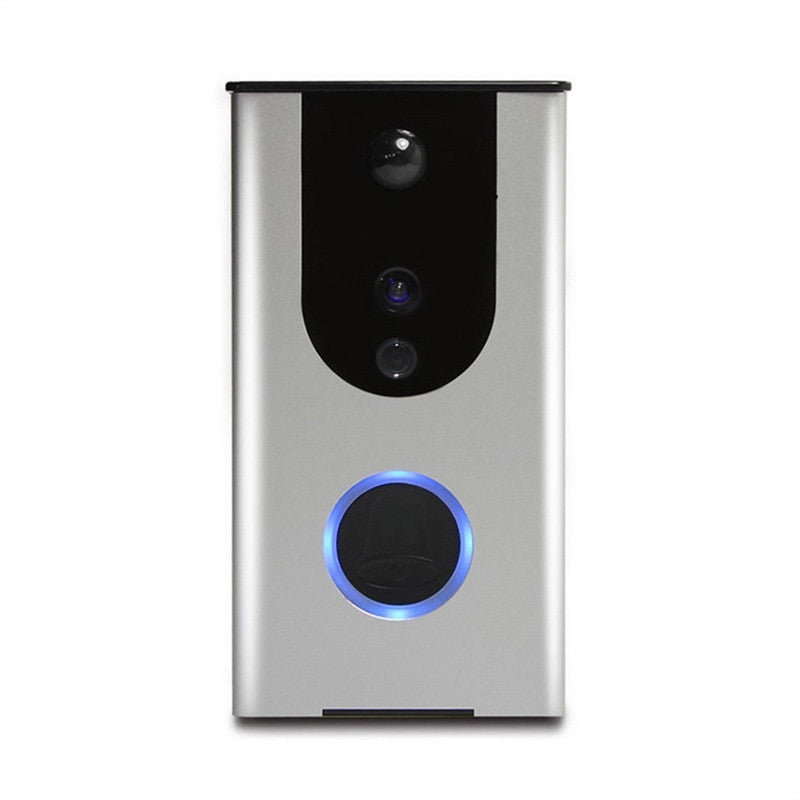 WiFi Wireless Doorbell Camera Remote Video Door Intercom IR Night Vision Security Bell Phone(Silver)
