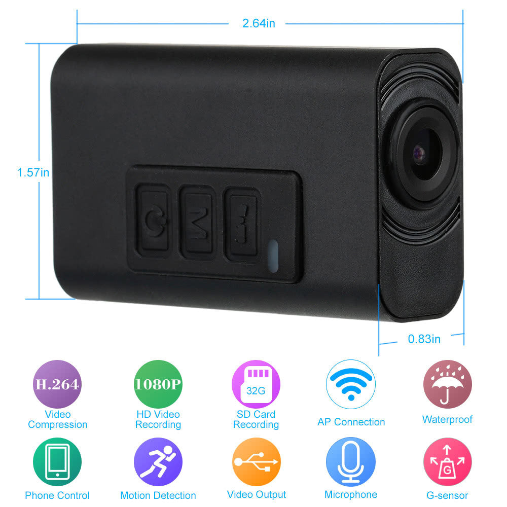 H.264 1080P Waterproof Wireless WiFi Camera Support SD Card Recording Android/iOS Control CCTV Security