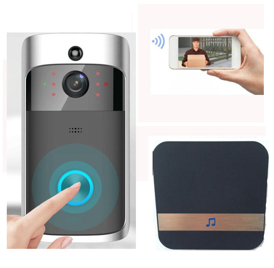 Wireless Doorbell Ring Chime Door Bell Video Camera WiFi IP 720P Waterproof IR Night Vision Two Way Audio