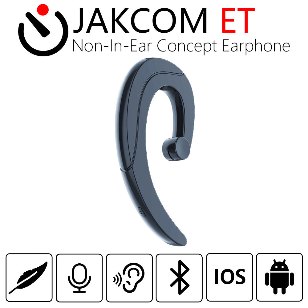 JAKCOM ET Non-In-Ear Concept Earphone Hot Sale in Earphones as Stereo Black Bluetooth 4.1 Multifunctional Headset With Micphone