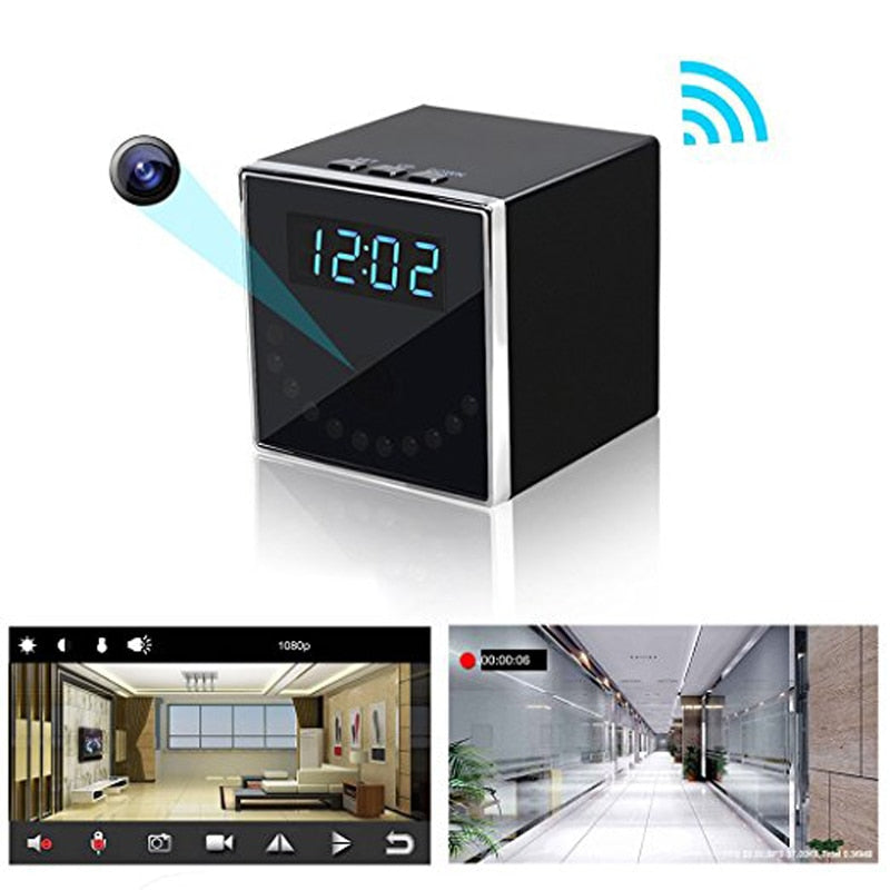 Wireless WIFI Clock Camera AP/P2P IP IR Night Vision HD 1080P Mini Camcorder Recorder DVR DV Support Phone Remote secret Cam