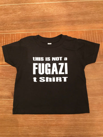 not a fugazi t shirt - BLacK