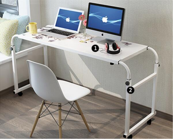 Portable Bedside Notebook Table w/ Wheels