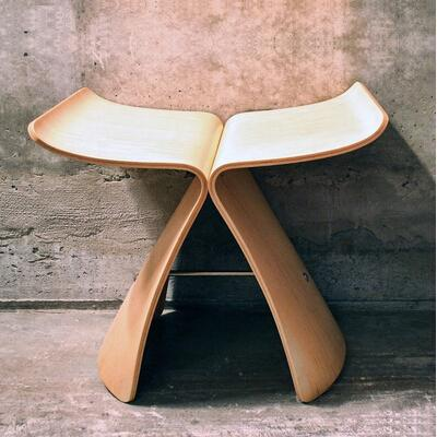 Butterfly Stool Living Room Leisure Chair Plywood Stool