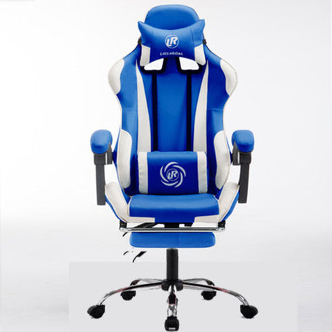 Reclining Office Chair w/ Footrest and Racing Seat