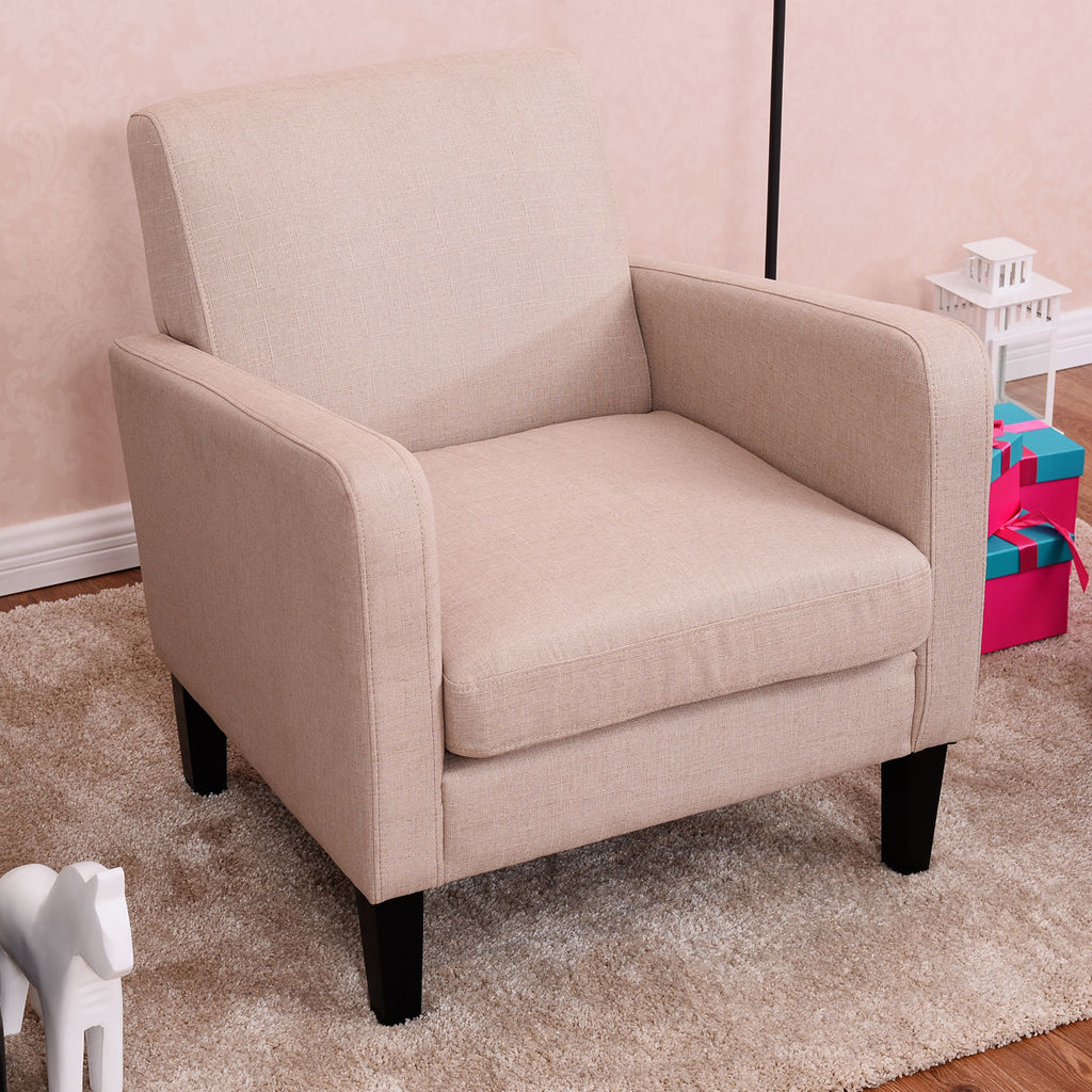Pink Leisure Accent Arm Chair