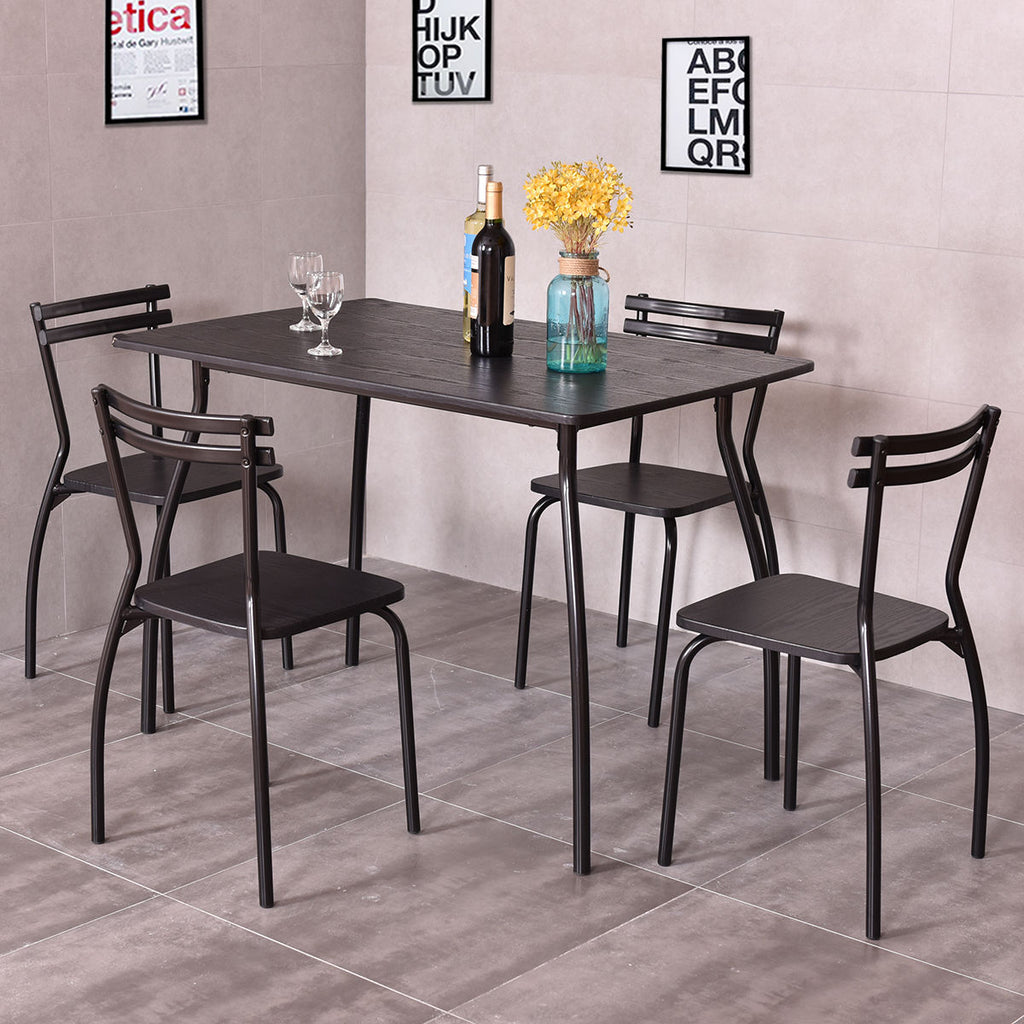 5 Piece Modern Dining Table Set