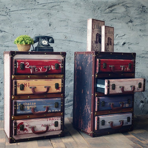 Vintage Chic Decorative Cabinets Decoration Retro Furnishing Living Room Side Storage Cabinet Home Furniture Decor Lockers Gift