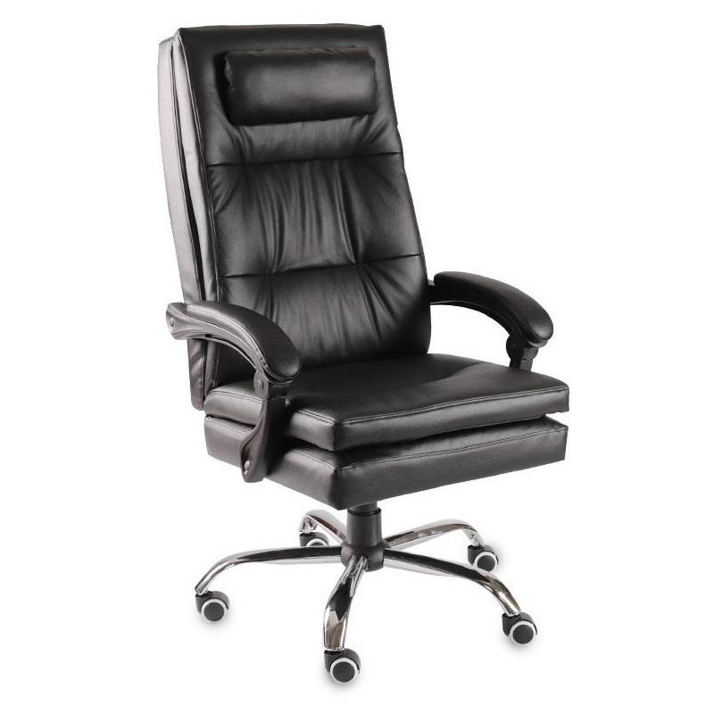 Black and White Grid Computer Home Boss Office Leather Swivel Simple Work Chair