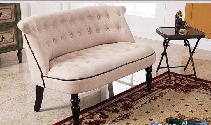 European Style Upholstered Love Seat