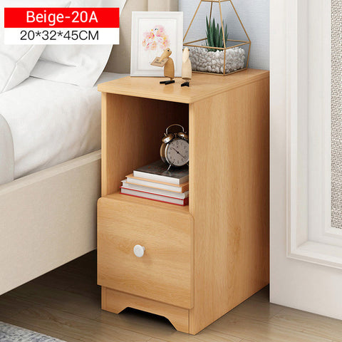 High quality Wooden Nightstand Bedside Table Storage Cabinet w/ Drawer Organizer and Detachable Assembly