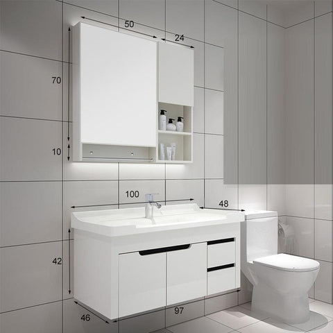 Modernistic Bathroom Vanity Cabinet Set