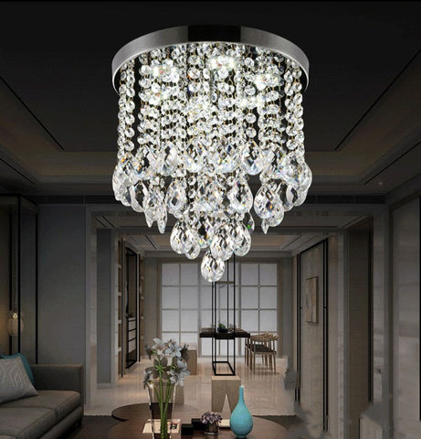 Modern K9 Stainless Steel Crystal LED Chandelier