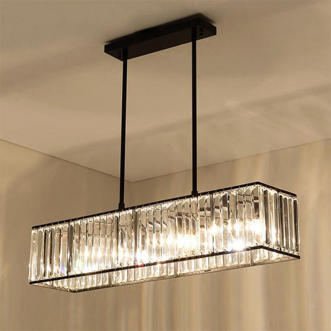 3-light American Vintage Retro Crystal Chandelier