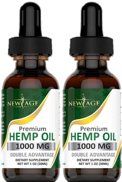 (2-Pack) Hemp Oil Extract for Pain, Anxiety & Stress Relief