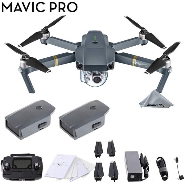 DJI Mavic Pro 4K Quadcopter with Remote Controller, 2 Batteries