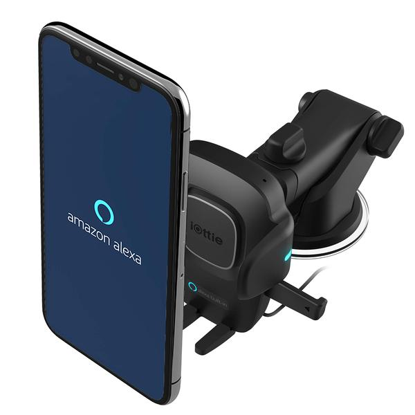 iOttie Easy One Touch Connect with Alexa Built in for iOS + Android Universal Car Mount