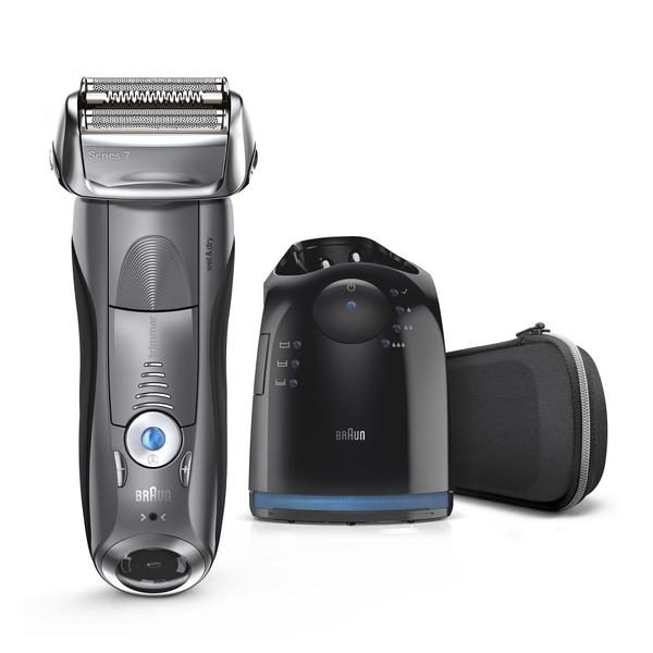 Braun Series 7 Men's Electric Foil Shaver with Wet & Dry Integrated Precision Trimmer & Rechargeable and Cordless Razor with Clean & Charge Station