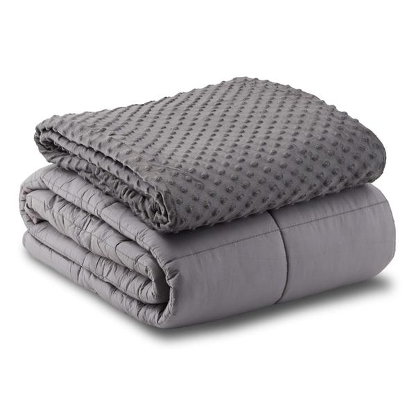 Leniio Weighted Blanket with Removable Duvet Cover for Adults
