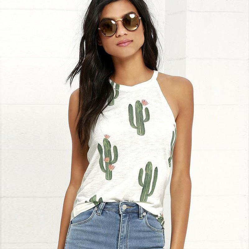 Women's Sleeveless Cactus Shirt